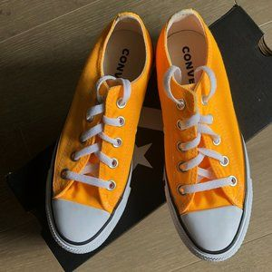 Converse ALL STAR Low Cut Sneakers Orange Sz 6